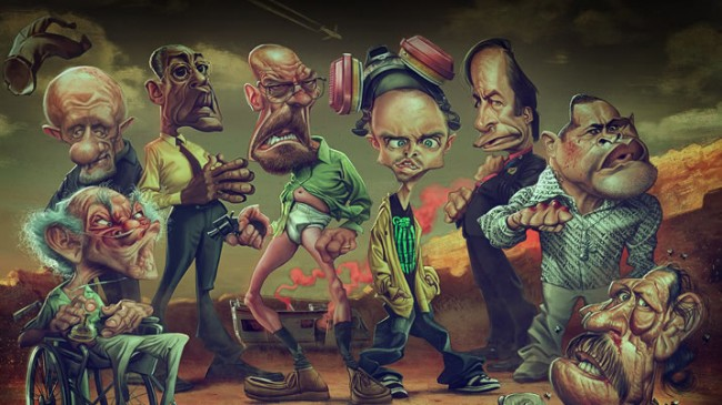 Caricatures Breaking Bad 8 650x365 10+ Breaking Bad Caricature by Anthony Geoffroy