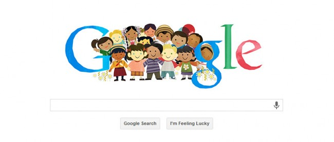 Children Day Doodle 650x277 Google Doodle Children's Day