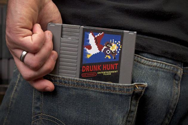 Game Whiskey Flask Shaped Like Nintendo Game Cartridge