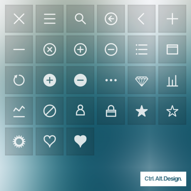 Interface Icons 003 650x650 Mobile App Interface Web Font Icons, Free Download by Ctrl Alt Design