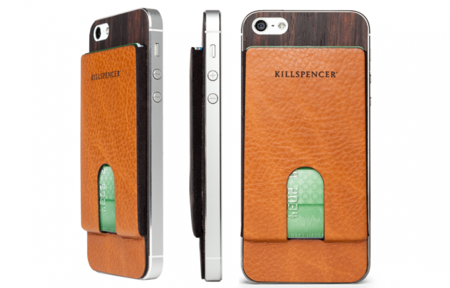 Kill Spencer iPhone 5 Case 650x416 A Beautiful Leather Handcrafted iPhone5 Card Carrier