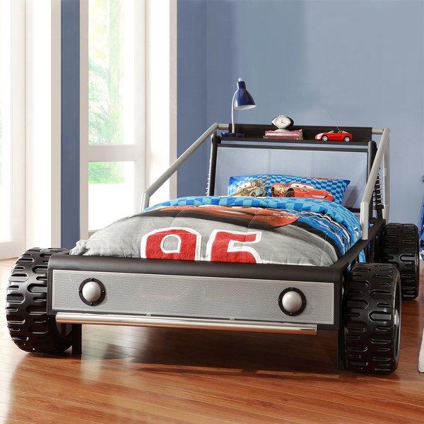 Kiran Race Car Platform Bed For Toddlers Kiran Race Car Platform Bed For Toddlers
