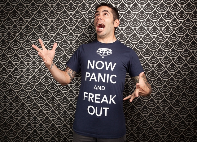 Now Panic And Freak Out T shirt by Olly Moss man Now Panic And Freak Out T shirt by Olly Moss