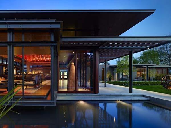 Pavilion House Olson Kundig Architects 01 1 Kindesign Open glass pavilion house on the shores of Lake Washington