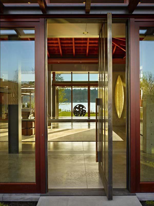 Pavilion House Olson Kundig Architects 03 1 Kindesign Open glass pavilion house on the shores of Lake Washington