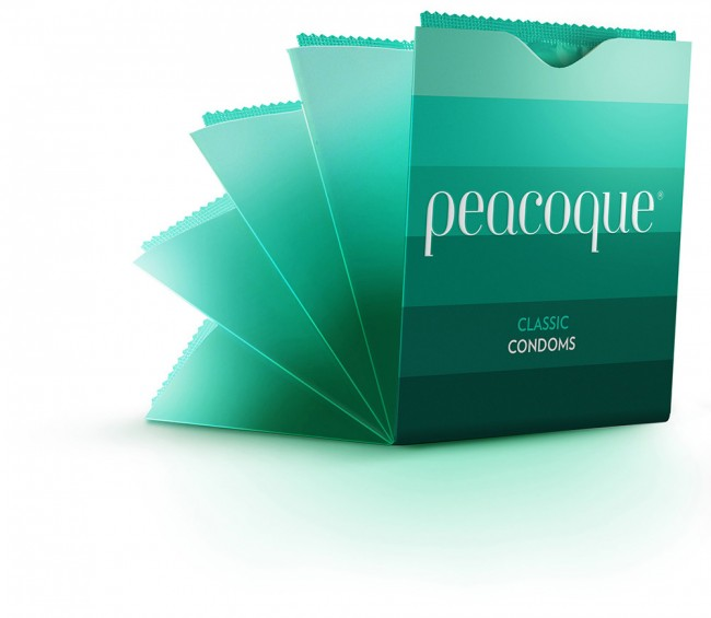 Peacoque 2a1 650x565 Peacoque   Innovative Condom Packaging