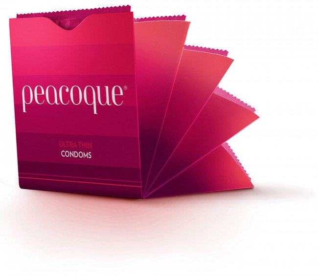 Peacoque 32 650x565 Peacoque   Innovative Condom Packaging