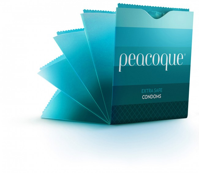 Peacoque 42 650x565 Peacoque   Innovative Condom Packaging