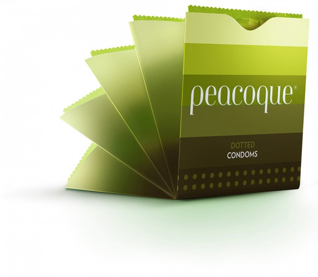 Peacoque 62 650x565 Peacoque   Innovative Condom Packaging