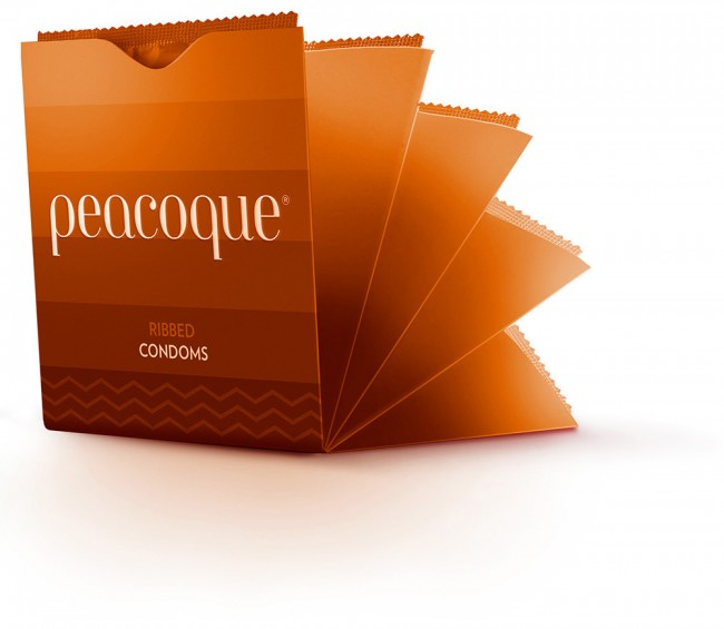 Peacoque 72 650x565 Peacoque   Innovative Condom Packaging