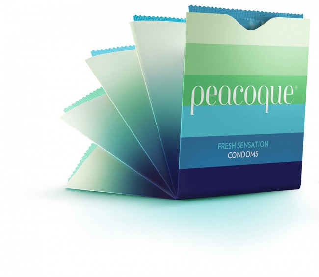 Peacoque 82 650x565 Peacoque   Innovative Condom Packaging