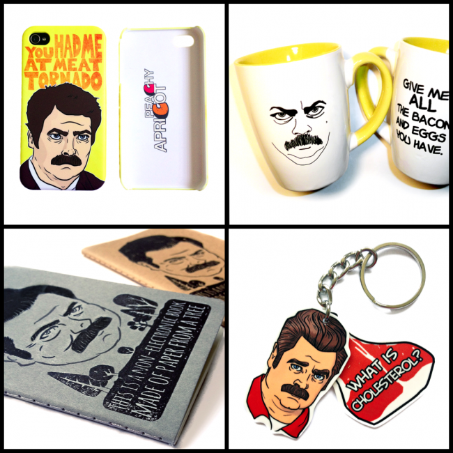 Ron Swanson Products 650x650 Reminder: Ron Swanson Movember Giveaway!