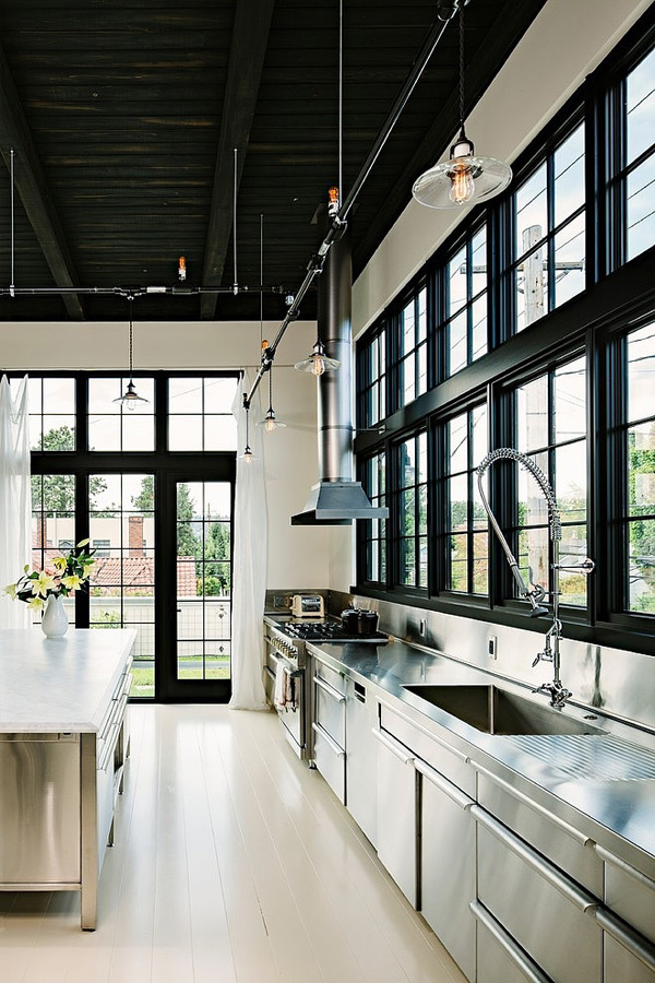 SE Division Street Emerick Architects 03 1 Kindesign Building transformed into industrial home in Portland