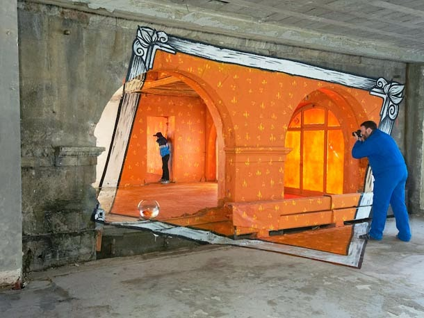 anamorphic places6 Anamorphic Optical Illusions by Ella and Pitr