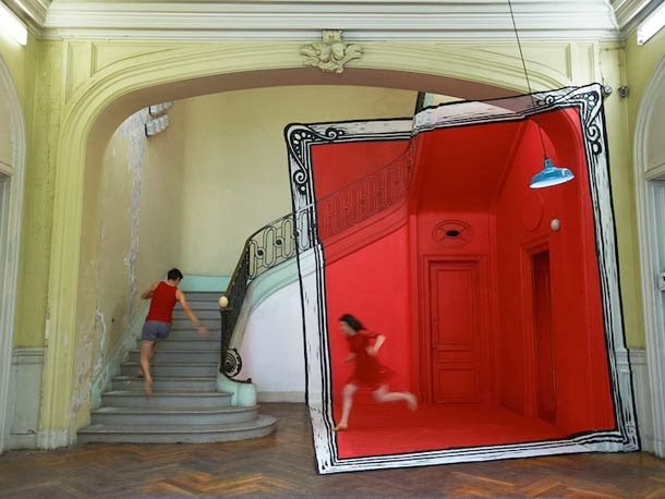 anamorphic places9 Anamorphic Optical Illusions by Ella and Pitr
