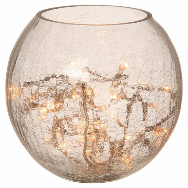 crackle glass light1 650x650 A beautiful parlane crackle glass table lamp