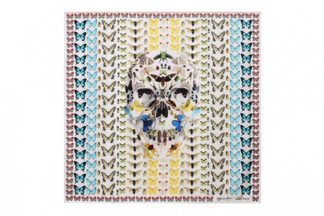 damien hirst alexander mcqueen scarves 1 960x640 650x433 Damien Hirst For Alexander McQueen