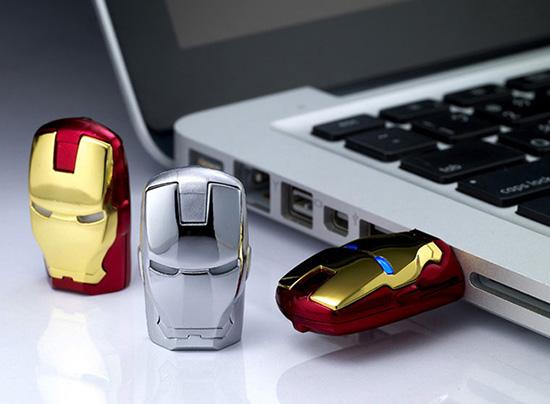 drfbgrbr Iron Man Head Flash Drive