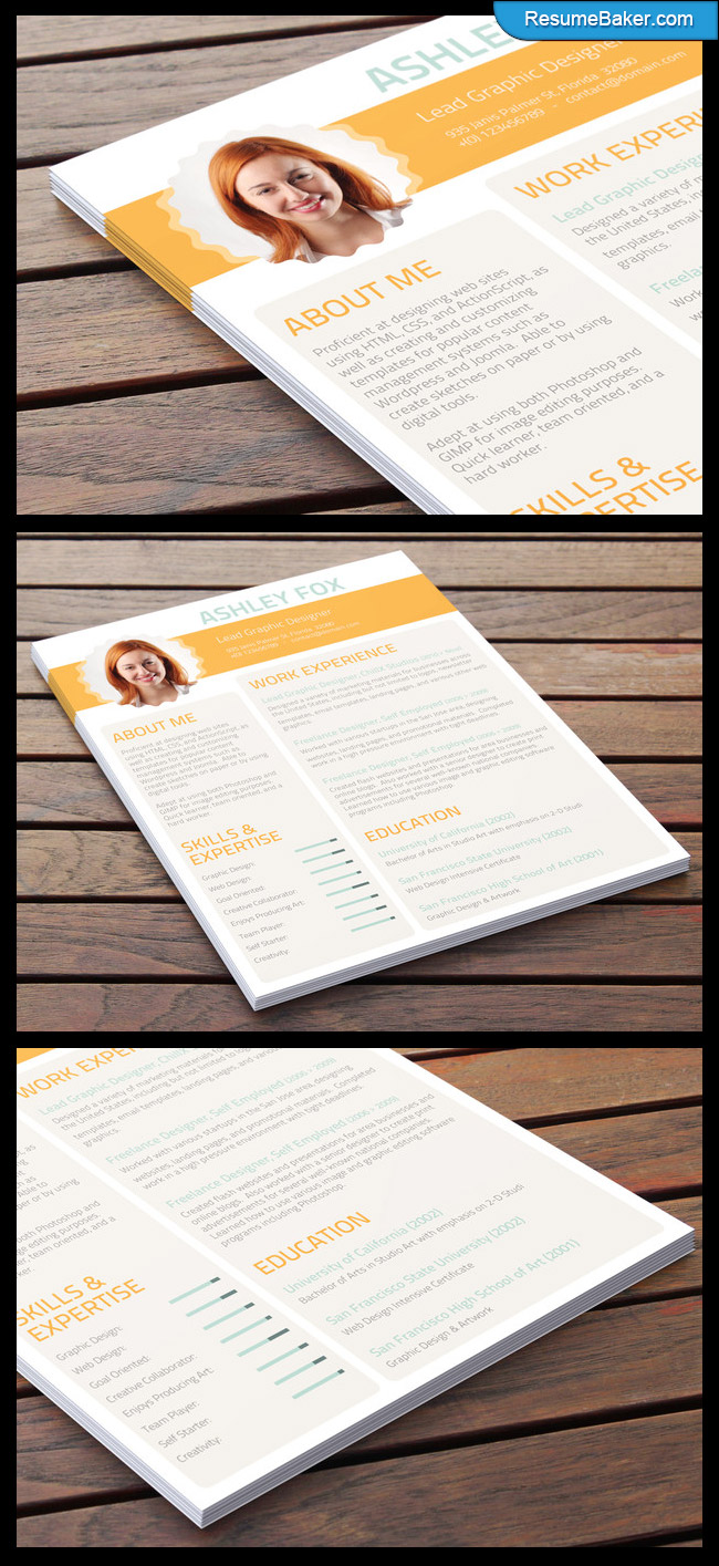 eye catching resume Country Life   A New CV Design from ResumeBaker