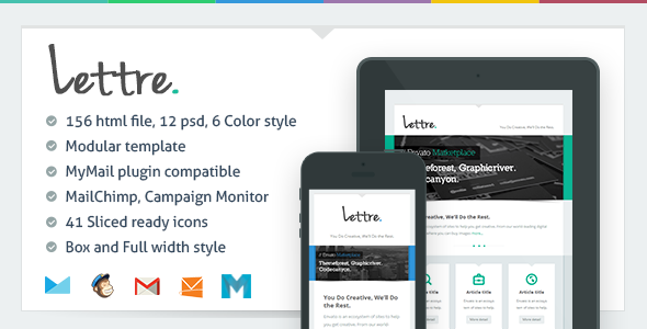 lettre email template 14 Top Responsive Email Templates & Free PSDs