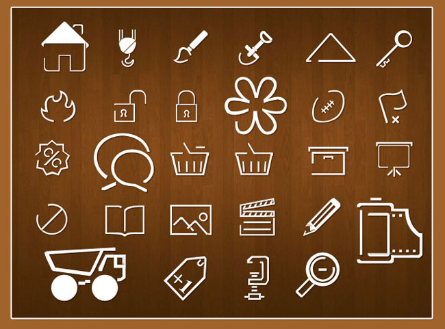 line icons Line Icons PSD    By WebDesignHood