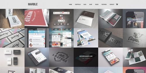 marble Just The Best WordPress Themes Ever Released