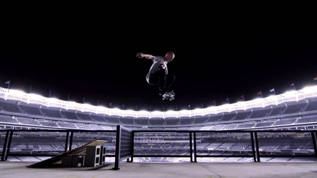 maxresdefault 650x365 Amazing Skate Session In An Empty Yankee Stadium