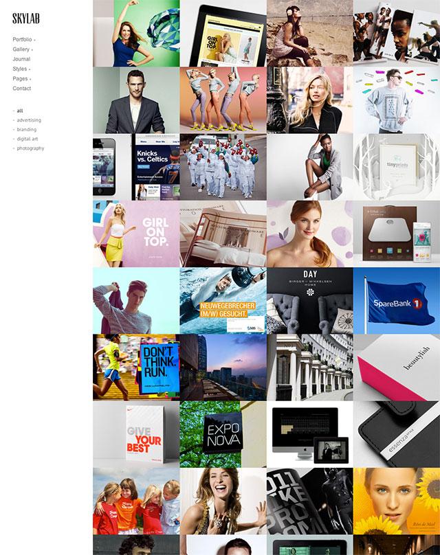 skylab theme 25+ Photography WordPress Themes