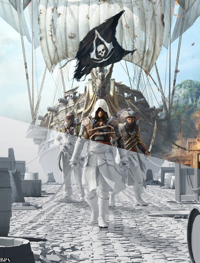 xUntitled 1 650x855 The Making of Ars Thaneas Ads for Assassins Creed IV: Black Flag