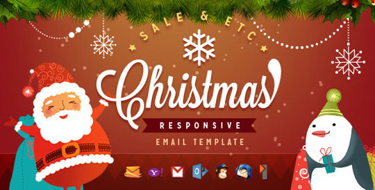 1.christmas email templates Beautiful Christmas Email Templates