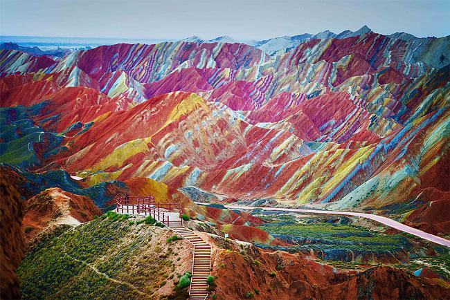 1 Zhangye Danxia Landform Geological Park in China