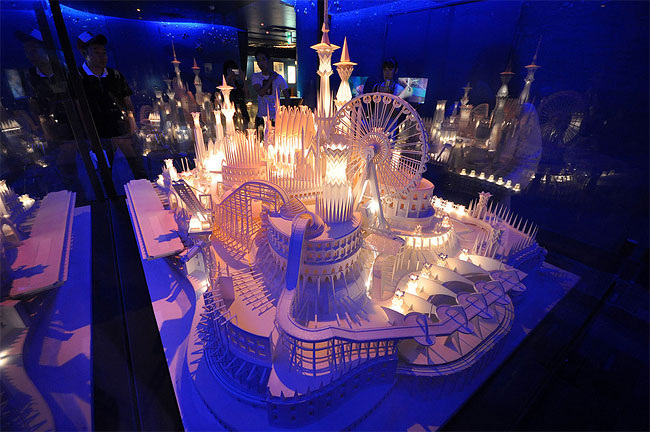 140 Paper Craft Castle by Wataru Itou