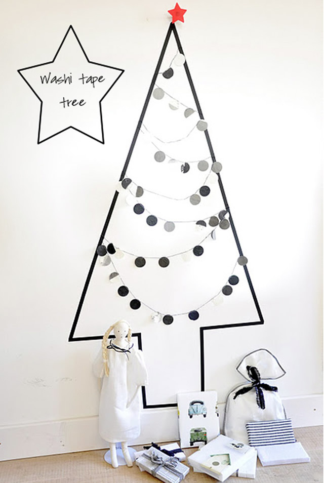 16o DIY Washi Tape Christmas Tree