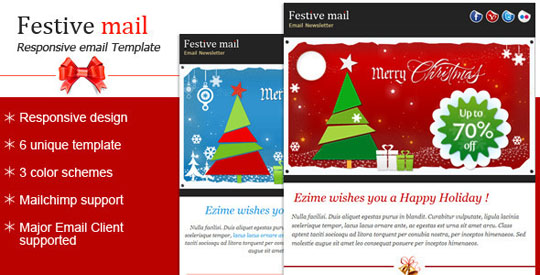 2.christmas email templates Beautiful Christmas Email Templates