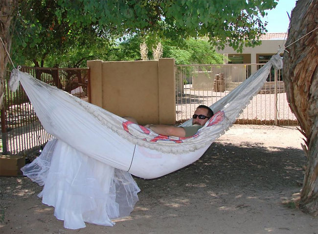 5128 Man Finds 101 Creative Ways to Use His Ex Wifes Wedding Dress