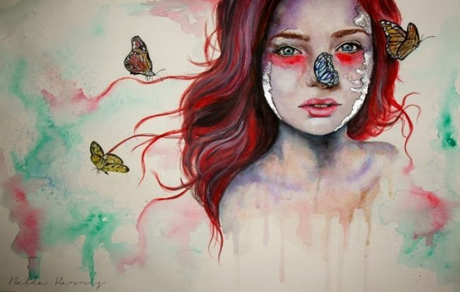 Bella Harris Where there are butterflies1 650x413 Art and Photography by Bella Harris