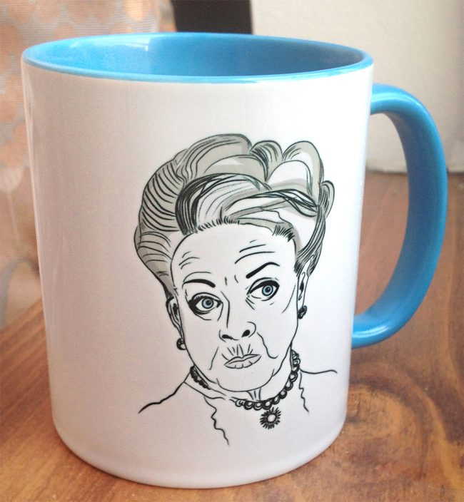 Dowager mug front 650x704 Downton Abbey Tea Time