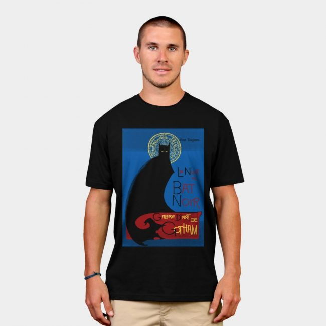 La Bat Noir T shirt Design by RoguePlanets man 650x650 La Bat Noir by RoguePlanets & Giraffe by Beart24 T shirts Designs