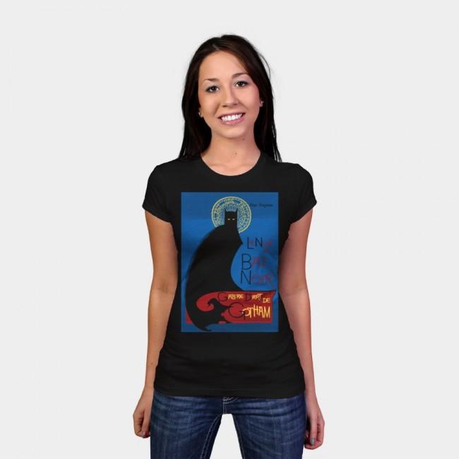 La Bat Noir T shirt Design by RoguePlanets woman 650x650 La Bat Noir by RoguePlanets & Giraffe by Beart24 T shirts Designs