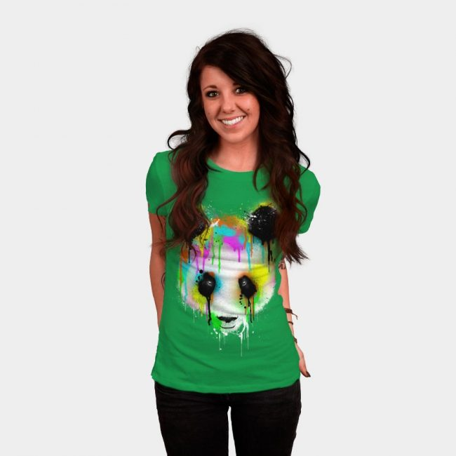 9bb1517b Technicolour Panda woman 650x650 Here's the Top 25 T Shirt Designs of 2013  from Design By