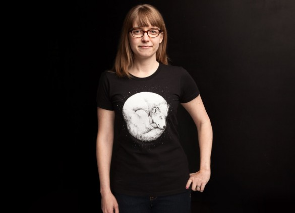 The Howl Of The Moon T shirt Design by Daniel Teixeira woman 585x423 The Howl Of The Moon by Daniel Teixeira & OIL by Lora Zombie T shirt Designs