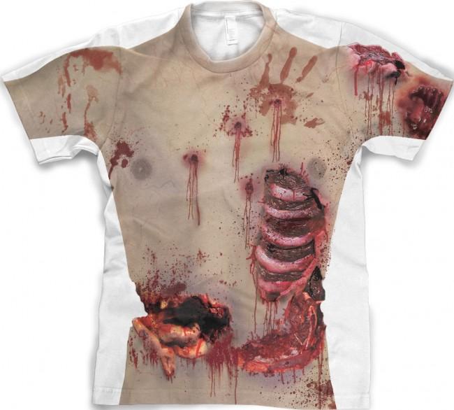 Zombie Torso Full Body Print front tee 650x586 Zombie Torso Full Body Print