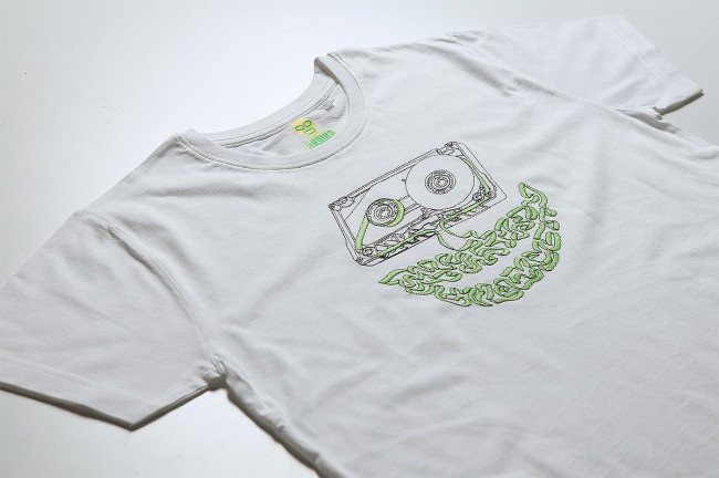 cassette2 650x432 Embroidery on t shirts by NUBIUS