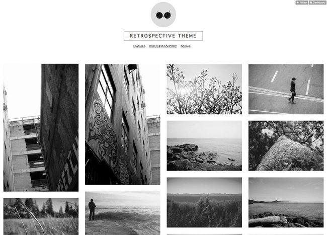 Thegrid retrospective free tumblr theme 650x467 50 best free tumblr themes maxwellsz