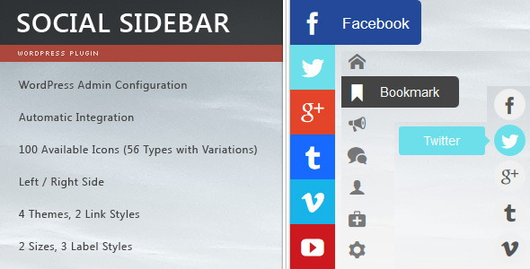social sidebar 20 Best WordPress Social Network Plugins