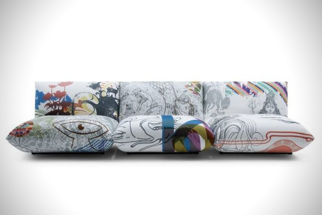 sof1 Funky Printed Sofa