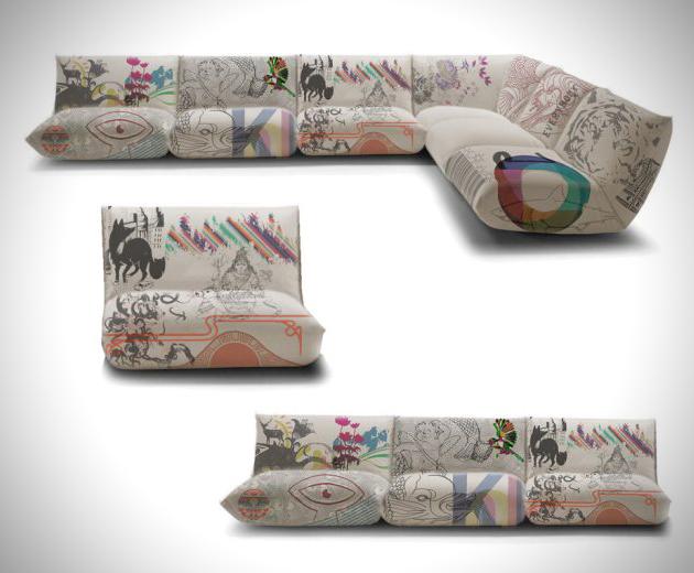 sof2 Funky Printed Sofa