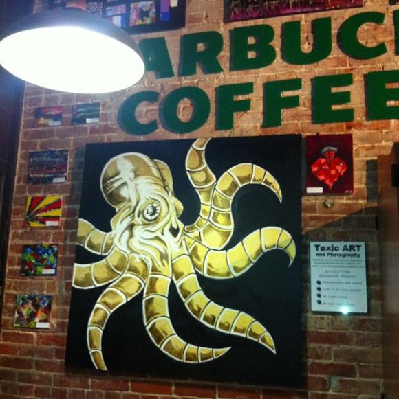 starbucks board chal art 21 Beautiful and Creative Starbucks Chalk Board Art