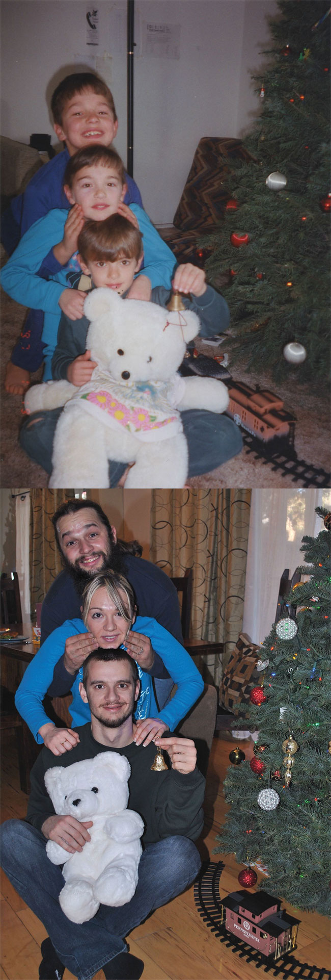 1213 Amazing 12 page Calendar of Recreated Family Photos