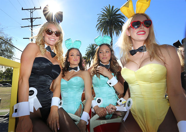 1246 Bunnies on Parade to Celebrate 60 Years of Playboy